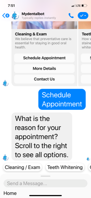 Dental Chatbot Appointment Setter