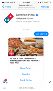 Dominos Chatbot